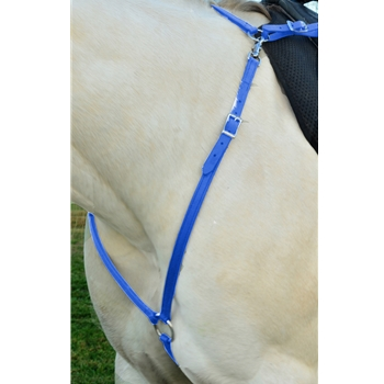 LIGHT BLUE ENGLISH BREAST COLLAR made from BETA BIOTHANE (Solid Colored)