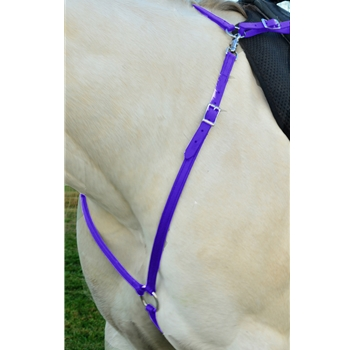 PURPLE ENGLISH BREAST COLLAR made from BETA BIOTHANE (Solid Colored)