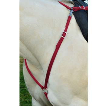 WINE ENGLISH BREAST COLLAR made from BETA BIOTHANE (Solid Colored)