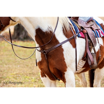 WESTERN BREAST COLLAR made from BETA BIOTHANE (Solid Colored)