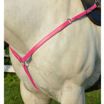 PINK WESTERN BREAST COLLAR made from BETA BIOTHANE
