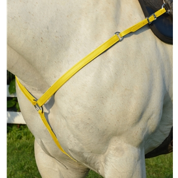 YELLOW WESTERN BREAST COLLAR made from BETA BIOTHANE