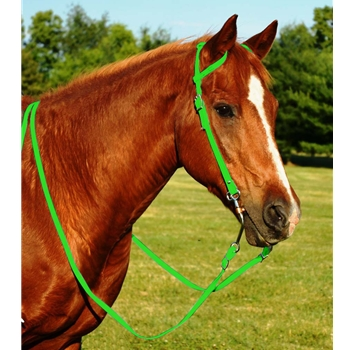LIME GREEN WESTERN BRIDLE (One Ear or Two Ear Split Ear Browband) made from BETA BIOTHANE
