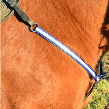 WESTERN BREAST COLLAR made from BETA BIOTHANE made with REFLECTIVE DAY GLO Biothane